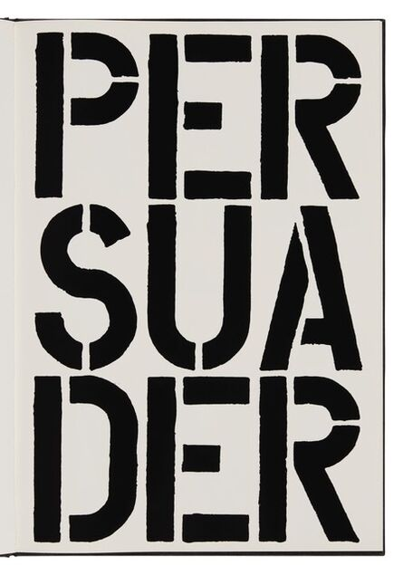 Christopher Wool, 'Persuader (page from Black Book)', 1989