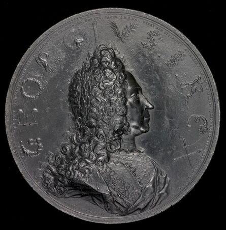 Nicolaus Seeländer, 'Coronation of George I, 1660-1727, King of England 1714 [obverse]', 1714