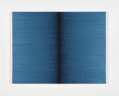 Irma Blank, 'Radical Writings, Schriftzug=Atemzug '89', 1989