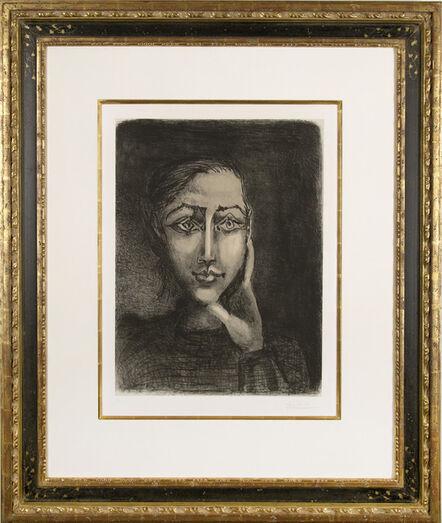 Pablo Picasso, 'Françoise sur fond gris', 1950