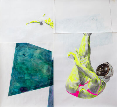 Ruby Onyinyechi Amanze, '#2 of 17 Swimming Pools [Divers]', 2020