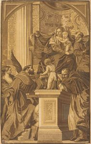 John Baptist Jackson after Veronese, 'Holy Family and Four Saints', 1739
