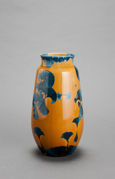Hongwei Li, 'Gourd vase, splash peacock blue glaze'