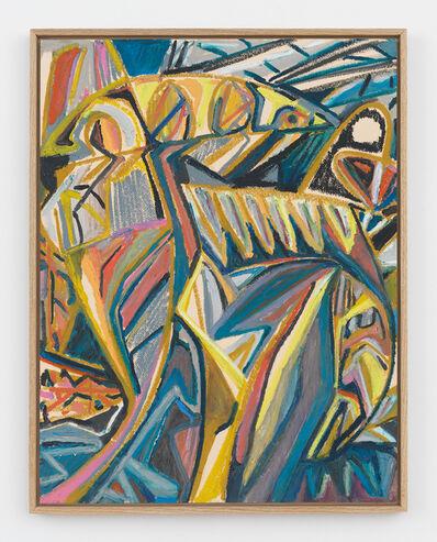 Johannes VanDerBeek, 'Folded Yellow Leaves'