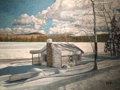 Nils Johnson, 'Reservoir Pond-January ', 2019