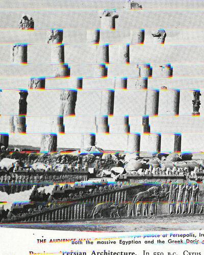 Sara Cwynar, 'Doric Columns (Darkroom Manual)', 2014