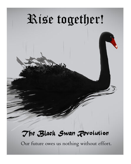 Cody Norris, 'The Black Swan Revolution (Rise together!)', 2020