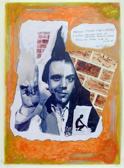 Jacques Lizène, 'Sculpture génétique, 1971, Manzoni croisé Lizène, en remake 2015. Mabzoni, merda d'artista (1961) – Lizène, peindre avec sa matière fécale (1977). Être son propre tube de couleur.  ', 2015