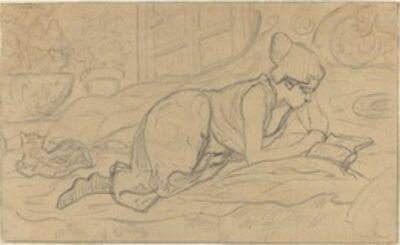 """Paul Ranson, 'Study for """"La Liseuse couchée""""', 1894"""