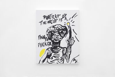 Alvaro Seixas, 'Untitled Painting (Portrait of the Artist As A Finger Fucker)', 2017