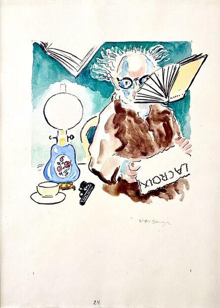 Kees van Dongen, 'La Lecture du Journal', 1951