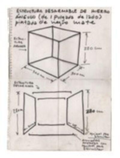 J. Pablo Renzi, 'Plano de Prisma de aire (Materialización de las coordenadas espaciales de un prisma deaire)', 1967