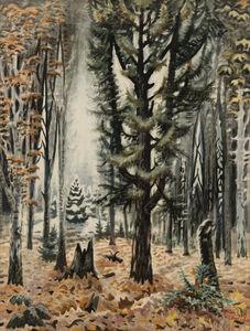 Charles Ephraim Burchfield, 'Hemlock in November ', 1947-1966