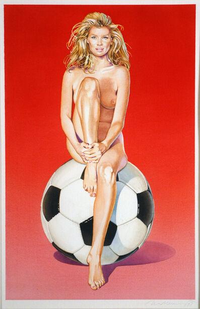 Mel Ramos, 'Fussball Fannie', 1997