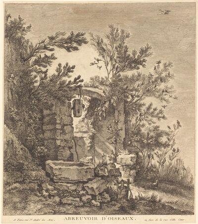 Quentin-Pierre Chedel after François Boucher, 'Abreuvoir d'oiseaux (The Birds' Watering Place)', 1754