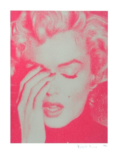 Russell Young, 'Marilyn Crying (Cream and Suicide Pink)', 2011