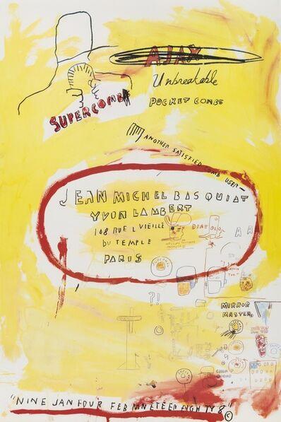 Jean-Michel Basquiat, 'Supercomb', 1988