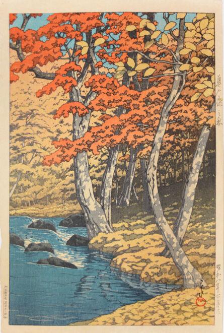 Kawase Hasui, 'Autumn at Okuirise', 1933