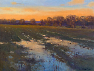 Thomas McNickle, 'PUDDLES IN ORANGE AND BLUE', 2016