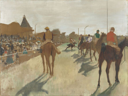 Edgar Degas, 'Horses before the Stands', 1866-1868