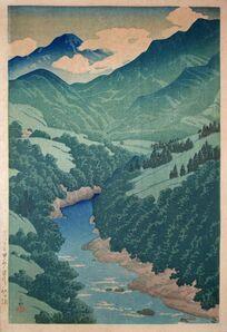 Kawase Hasui, 'Somegawa in Koshu', 1921