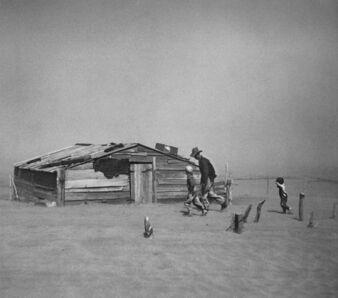 Arthur Rothstein, 'Fleeing Dust Storm, Cimarron County, Oklahoma', 1936, printed under Rothstein's supervision, 1983, 84