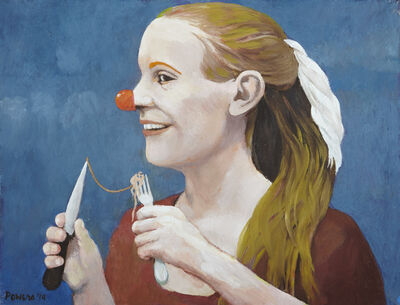 Anne Lyman Powers, '[Girl with Clown Nose]', 2014