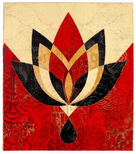Shepard Fairey, 'Bleeding Lotus, Version 4', 2018