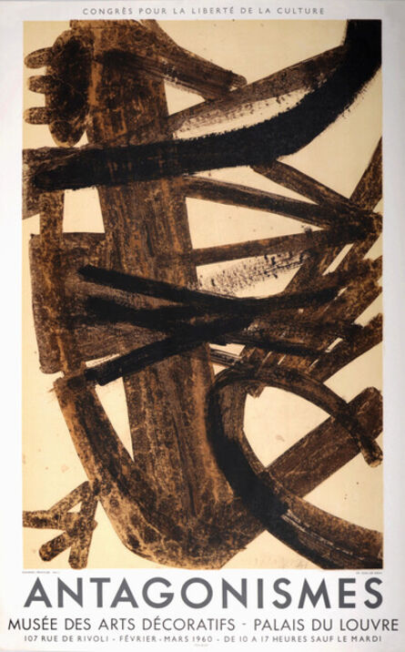 Pierre Soulages, 'Antagonismes, 1960 - Lithographic poster', 1960