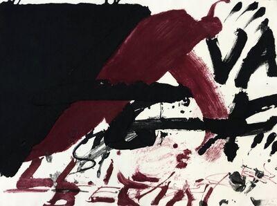 Antoni Tàpies, 'Negre i roig serie', 1976