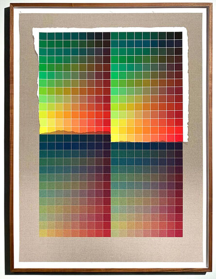 Analía Saban, 'Transcending Pigment from Paint to Canvas, from Canvas to Paint (Color) #2 No. VI', 2020