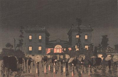 Kobayashi Kiyochika 小林清親, 'Shinbashi Station', Meiji era-1881
