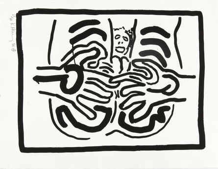 Keith Haring, 'Untitled, from Bad Boys (Littmann p. 59)', 1986