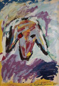 Menashe Kadishman, 'Sheeps Head', 1985