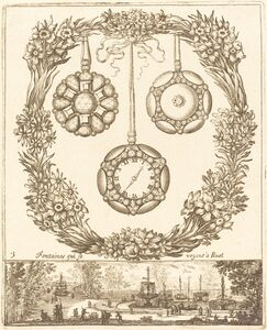 François Le Febvre, 'Fontaines qui se voyent a Ruel', probably 1665
