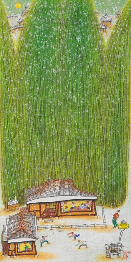 Sung-Hwan Choi, '5하얀마음 61x122cm', 2014