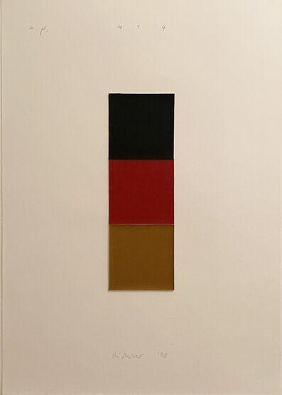 Gerhard Richter, 'Schwarz, Rot, Gold I', 1989