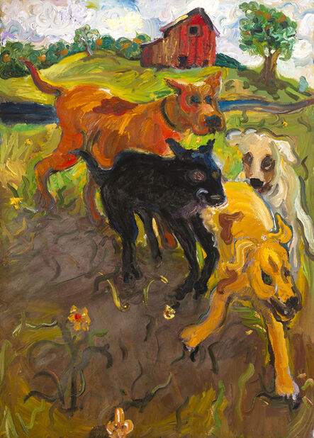 Chuck Connelly, 'Four Running Dogs ', 1993