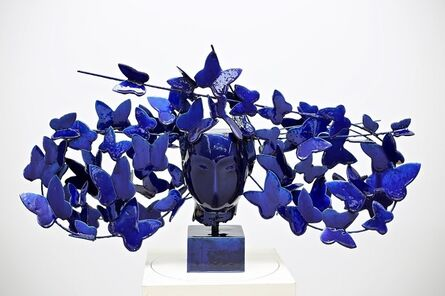 Manolo Valdés, 'Mariposas Azules', 2017