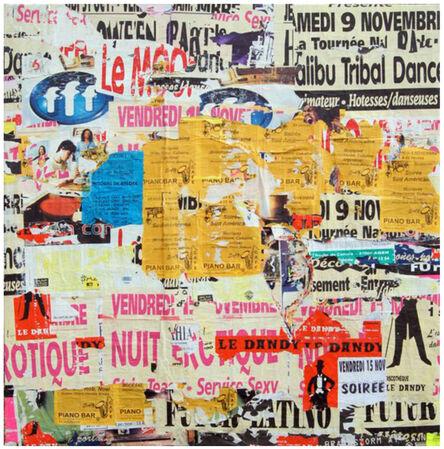 Jacques Villeglé, 'FFF, les dessous de Saint-Caprais - Agen', 1997