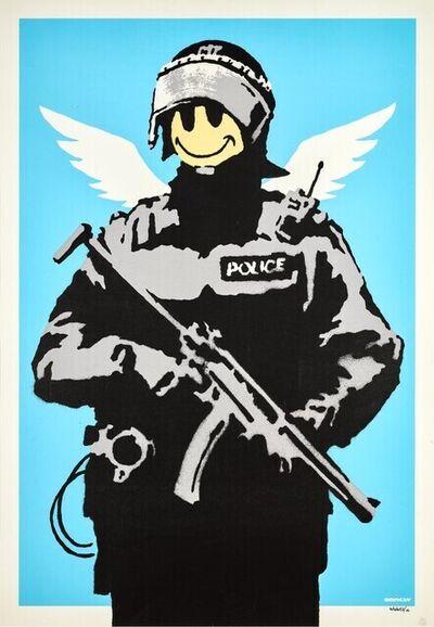 Banksy, 'Flying Copper (Signed)', 2004