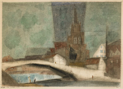 Lyonel Feininger, 'Kirche von Treptow a. R. (The Church of Treptow on the Rega)', 1933
