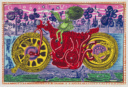 Grayson Perry, 'Selfie with Political Causes (etching)', 2018