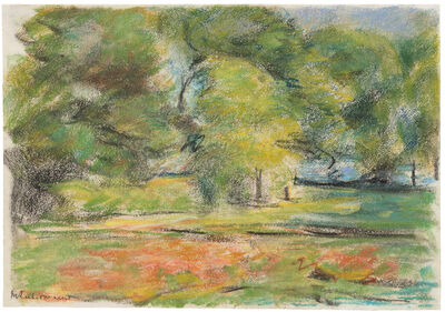 Max Liebermann, 'Die Blumenterrasse im Wannseegarten nach Nordosten', ca. 1926