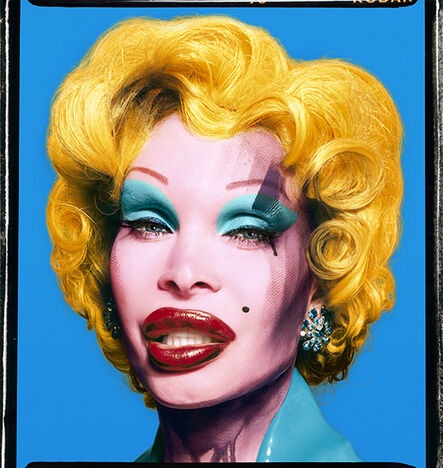 David LaChapelle, 'Amanda as Andy Warhol's Marilyn in Blue, 2007', 2003