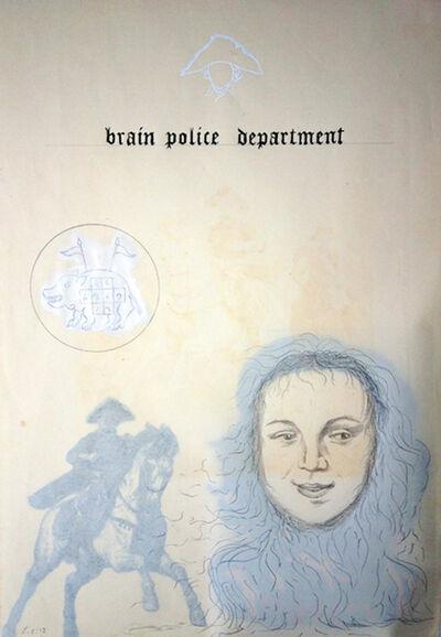Enrique Chagoya, 'Ghostly Meditations (brain police department)', 2012