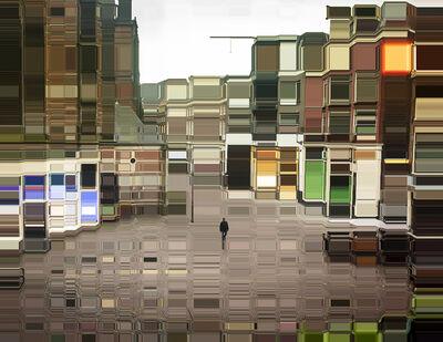Asaf Gam Hacohen, 'Behind the Royal Palace of Amsterdam', 2018