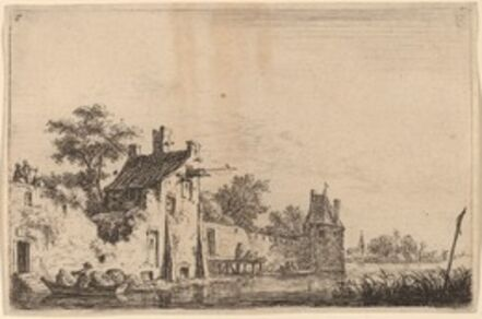 Anthonie Waterloo, 'Departure of Two Fishermen'