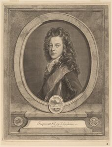 Gerard Edelinck after Francois de Troy, 'James III, Prince of Wales'