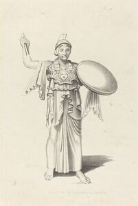 W. Walton after John Flaxman, 'Minerva, From a Bronze by Daedalus', published 1829
